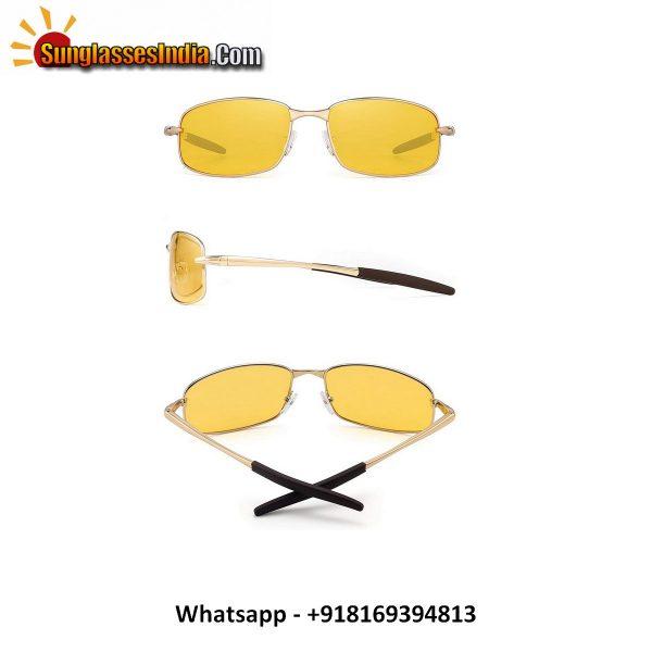 Night Driving Polarized Glasses for Men Women Anti Glare Rainy Safe Night Vision Sunglasses