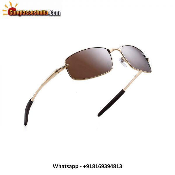 Men's Sport Polarized Sunglasses Spring Hinge Metal Driving Shades