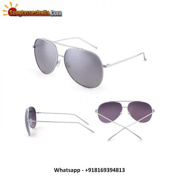 Classic Oversized Aviator Sunglasses Men Double Bridge Gradient Lenses UV400