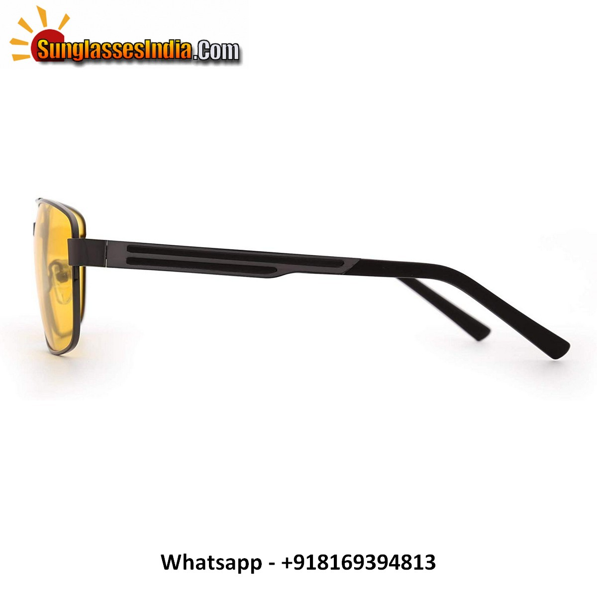 Polarized Night Driving Glasses Men Women Square Metal Frame Aviator