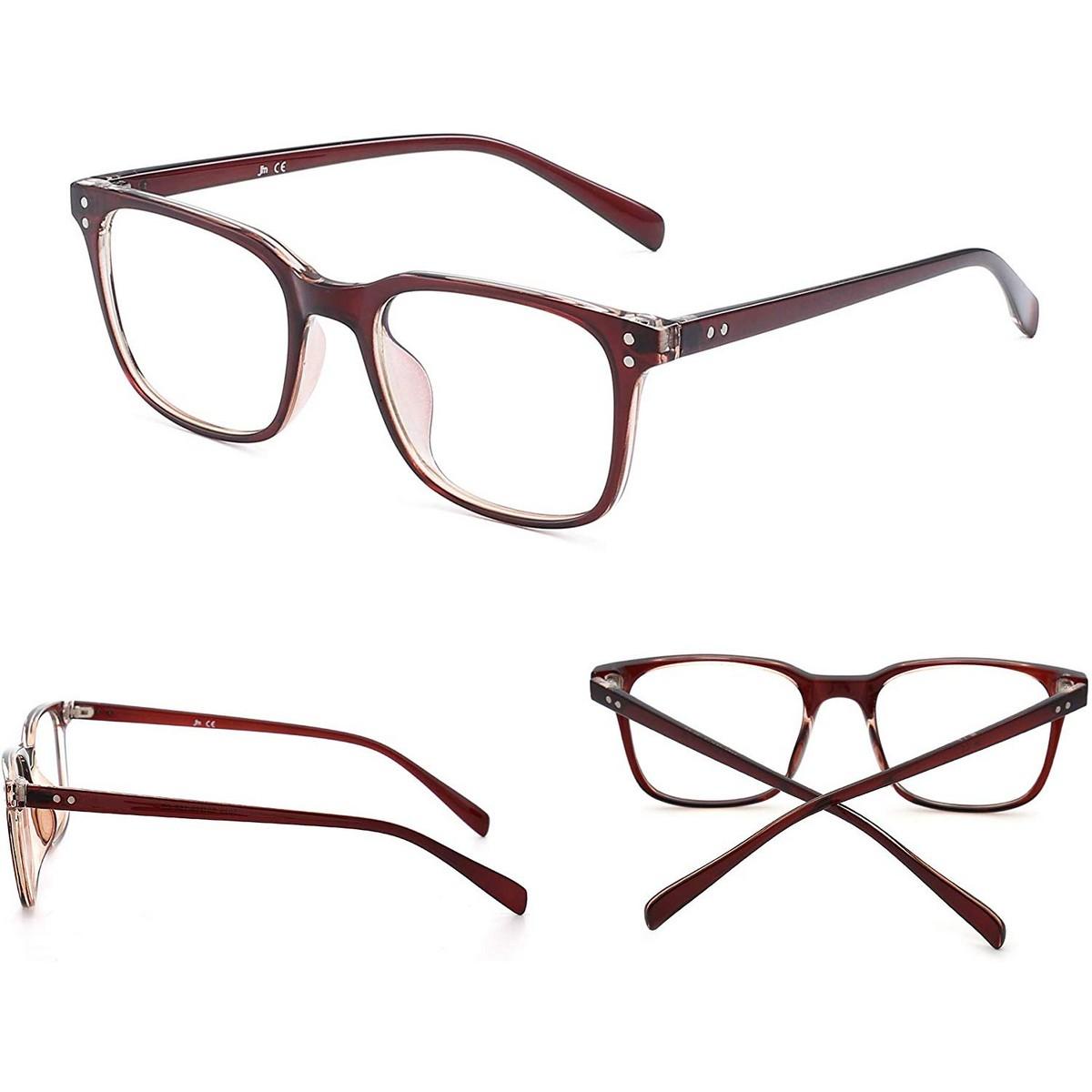 Blue Light Blocking Computer Glasses Anti Blue Ray Square Eyeglasses Reduce Eye Strain for Women Men
