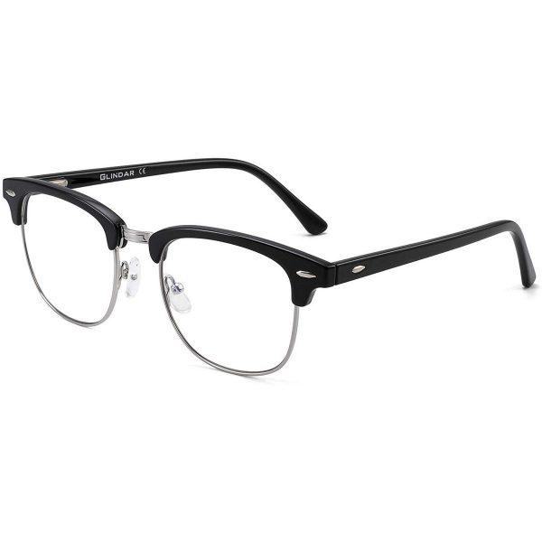 Blue Light Blocking Computer Glasses Retro Semi-rimless Style Reduce Eye Strain Video Game Eyeglasses Men Women