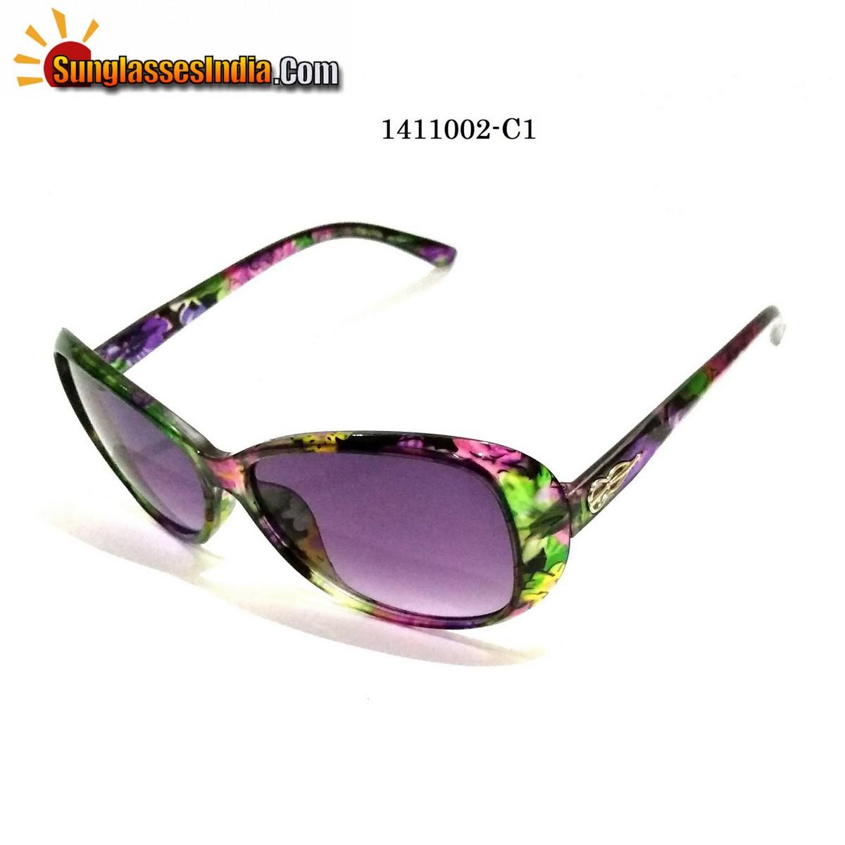 Floral Print Ladies Women Sunglasses Model 1141002C1