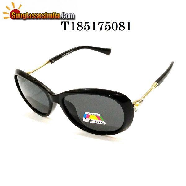Black Polarized Sunglasses for Women 185175081
