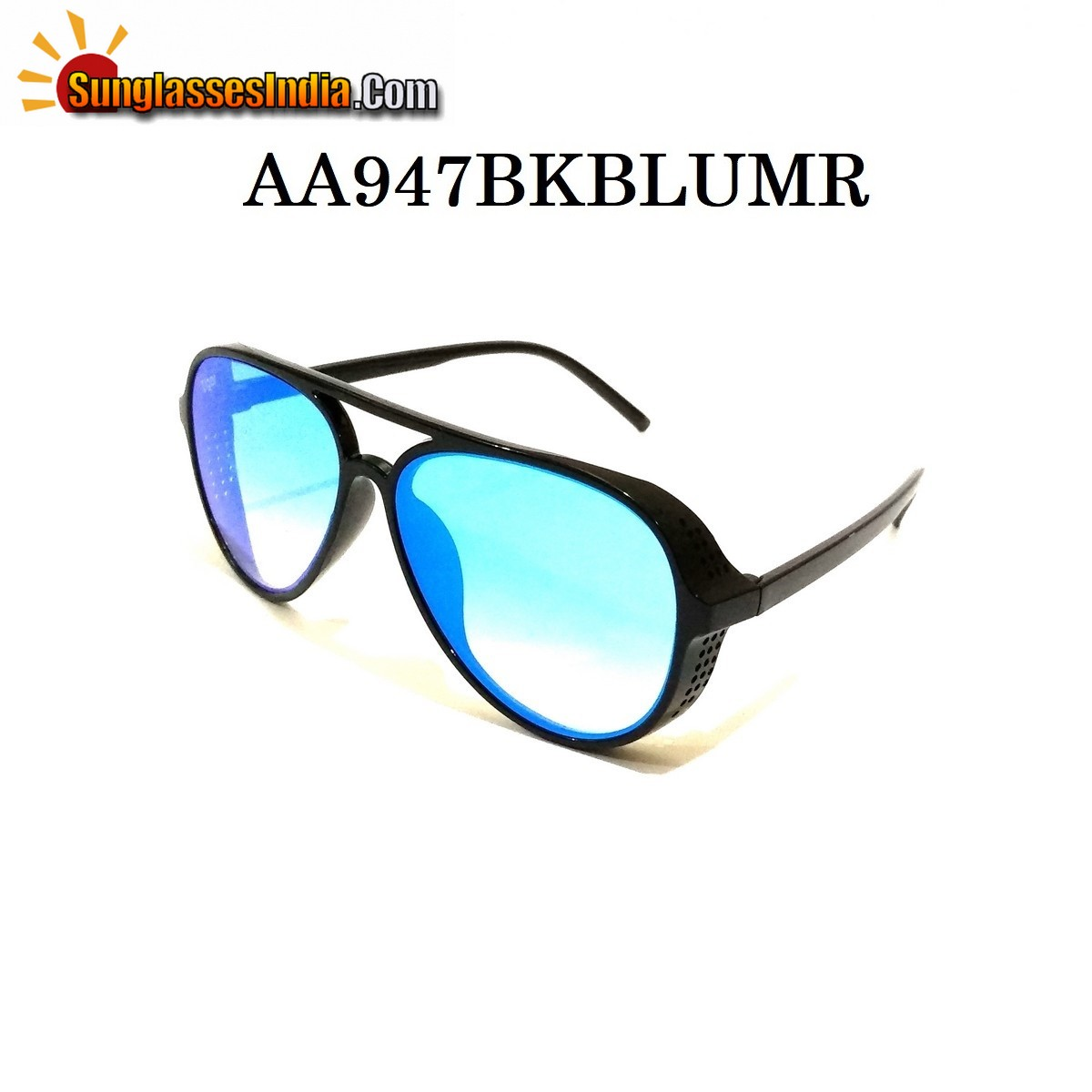 Blue Mirror Side Cup Fashion Steampunk Sunglasses
