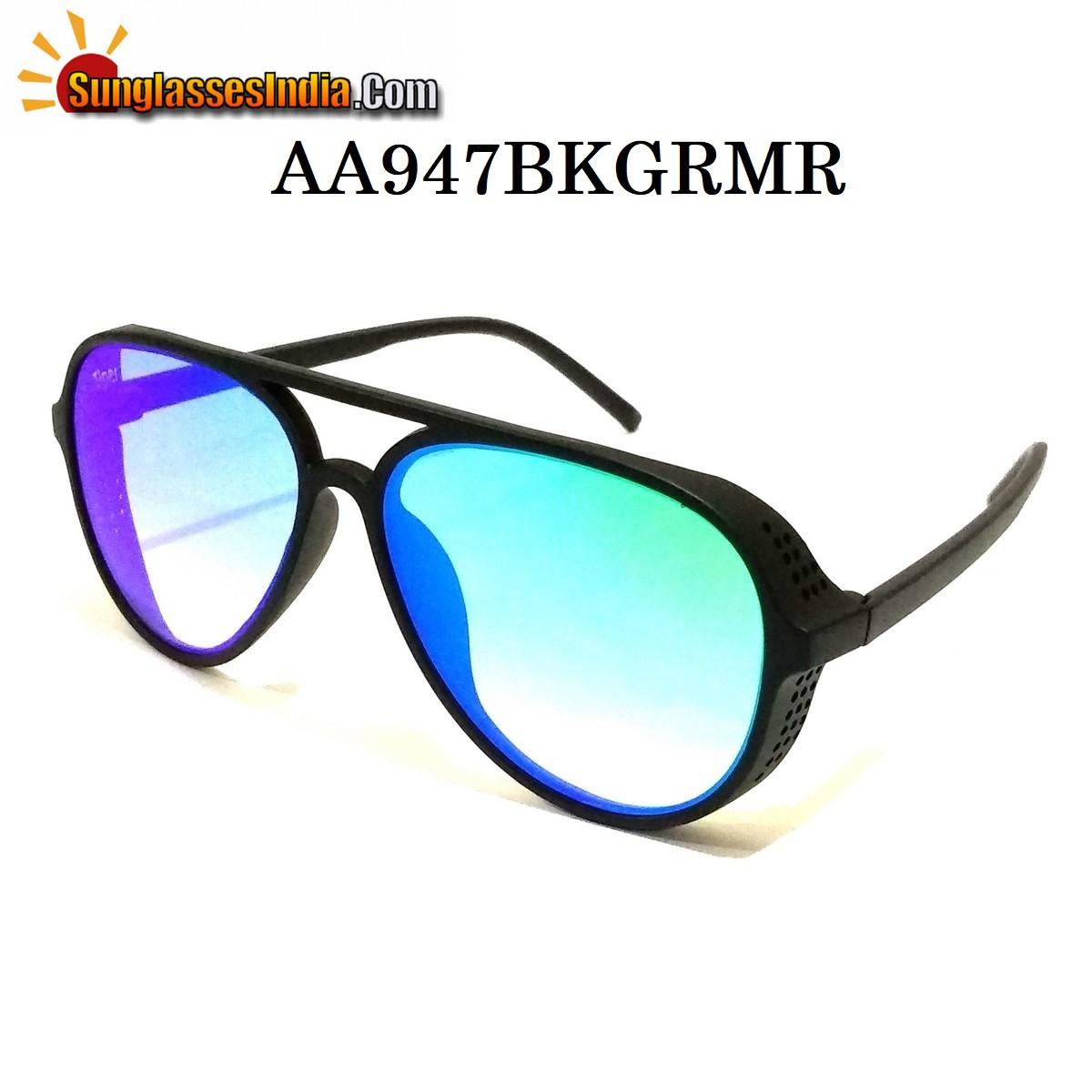 Green Mirror Side Cup Fashion Steampunk Sunglasses