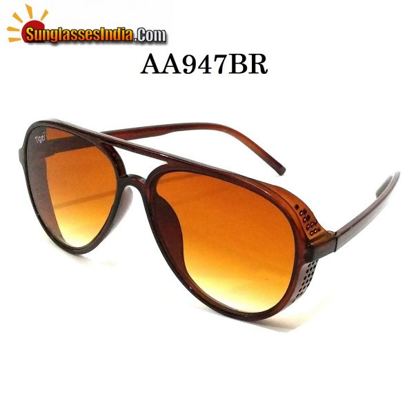 Brown Side Cup Steampunk Sunglasses