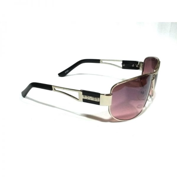 Silver Purple Rectangle Sunglasses