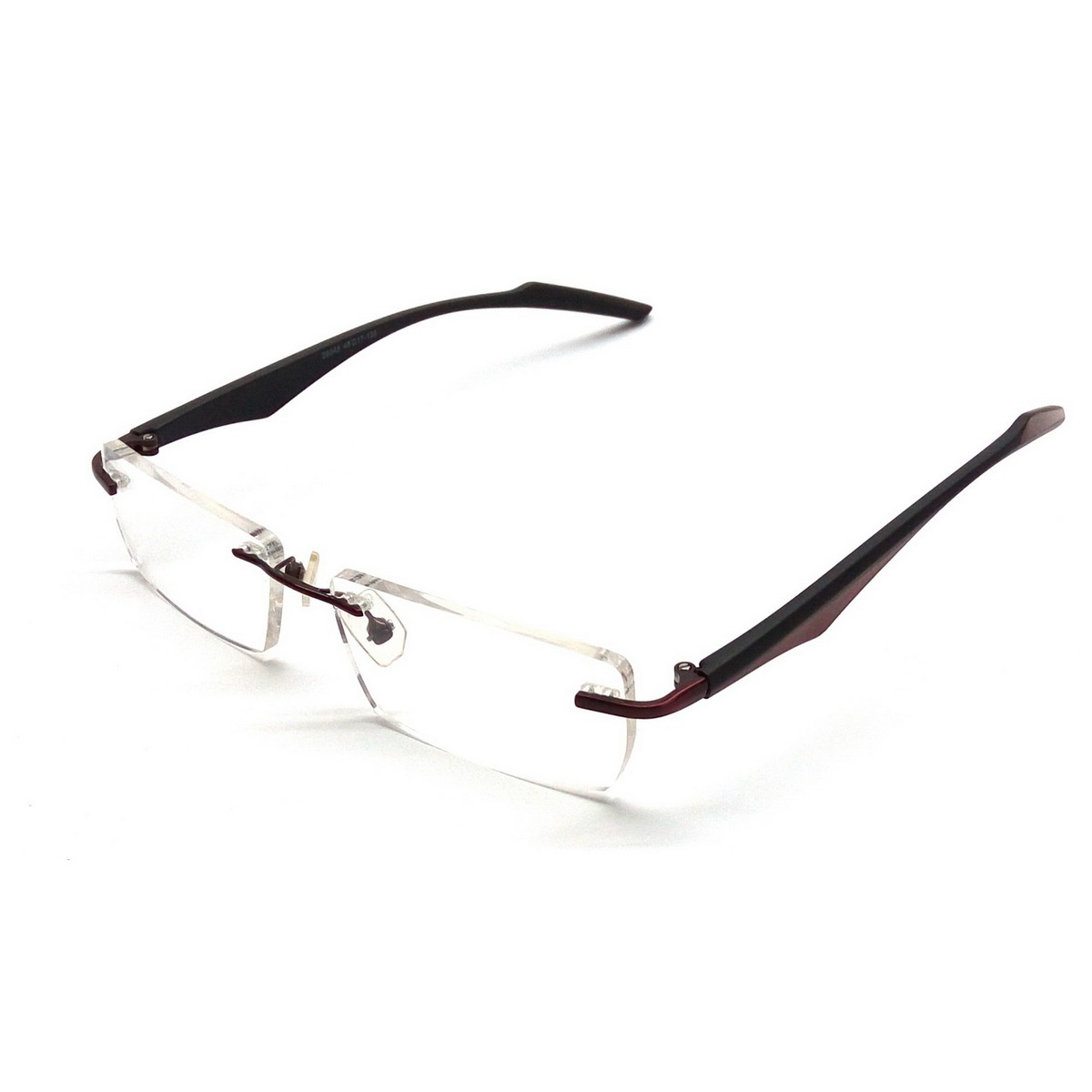 Premium Black Rimless Computer Glasses 29045bkrd