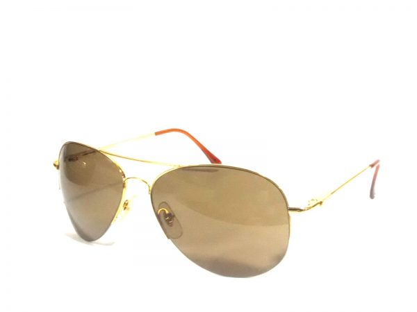 Gold Brown Aviator Sunglasses for men with Polycarbonate lens