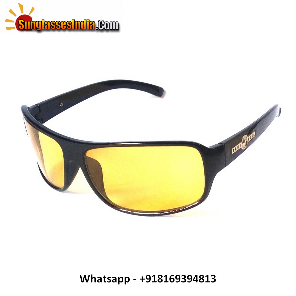 Night Driving Sunglasses for Large Face KS2122Ylw
