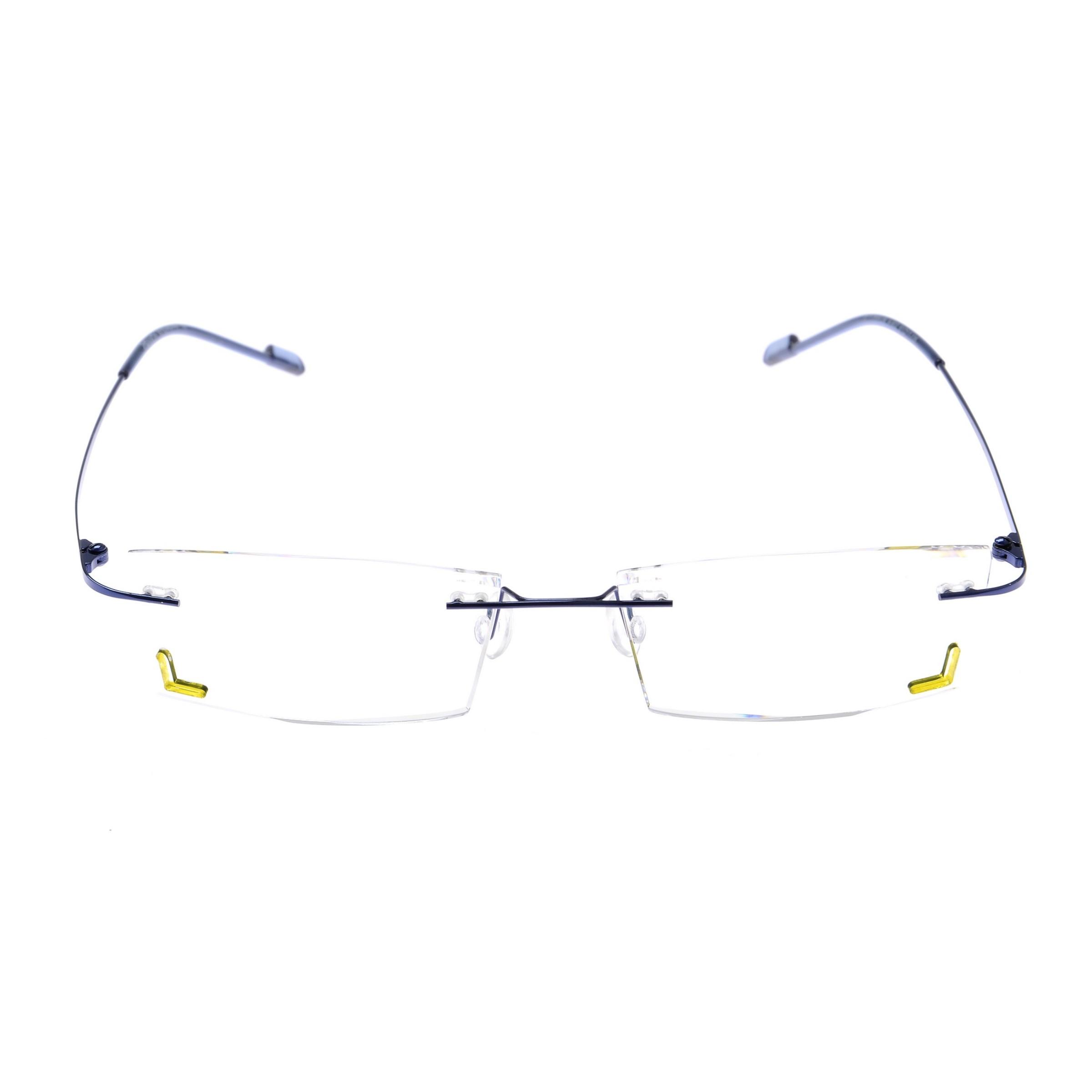 Crystal Weightless Blue Designer Rimless Computer Glasses A602BLBL