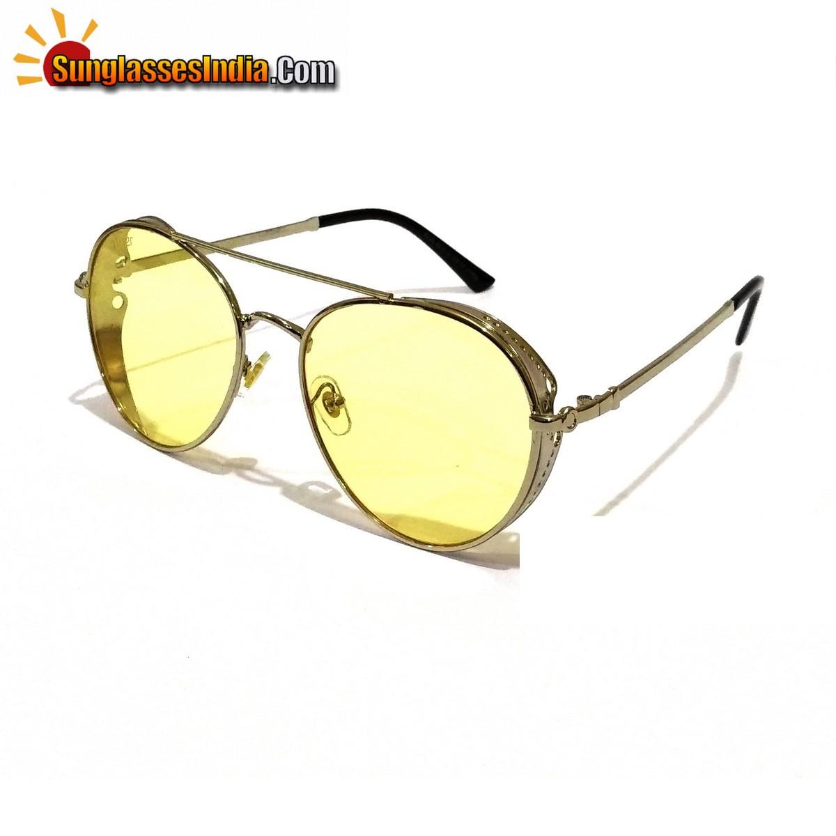 Round Trendy Club Sunglasses Night Driving Sunglasses Tik Tok Video Goggles Sunglasses