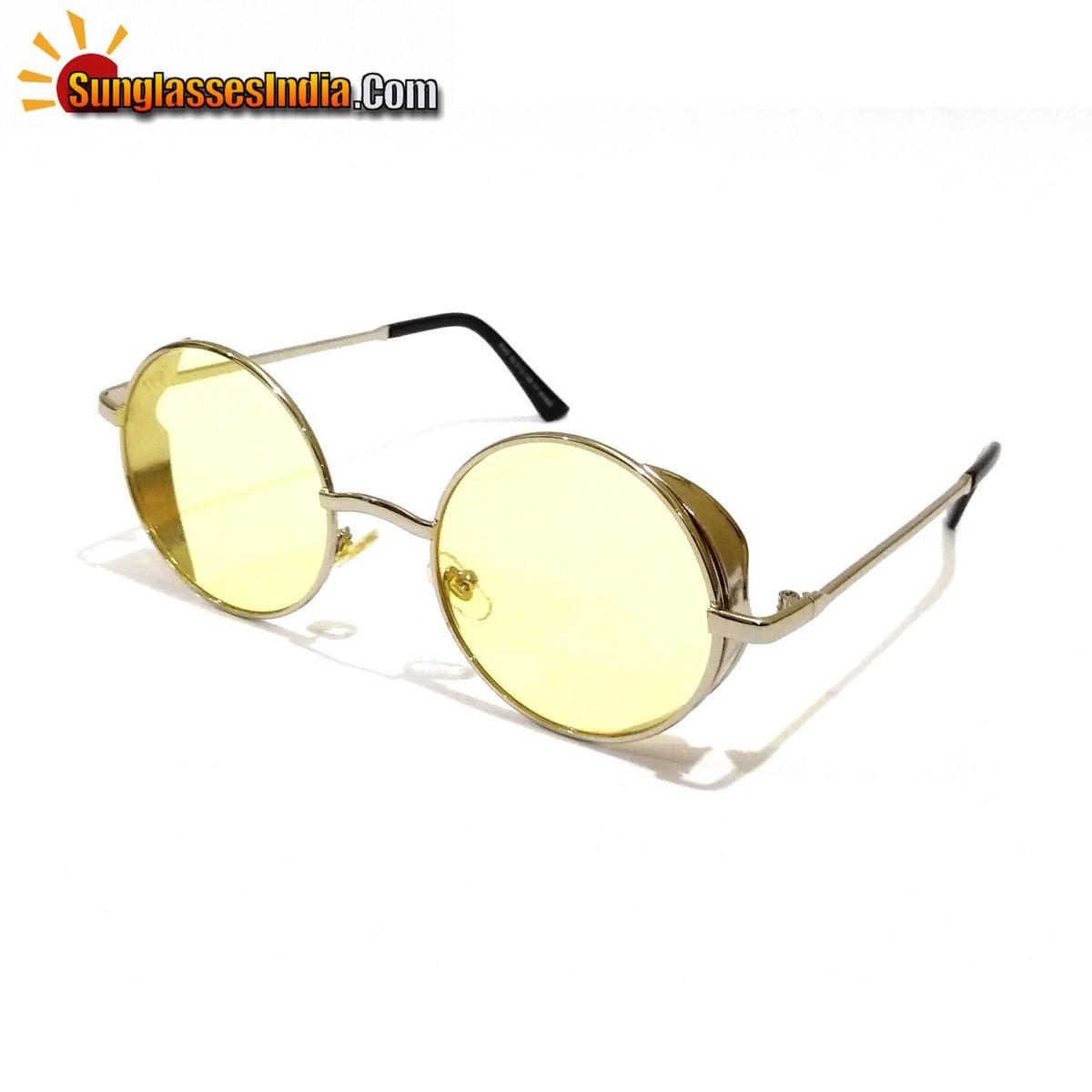 Round Club Sunglasses Night Driving Sunglasses Tik Tok Video Sunglasses