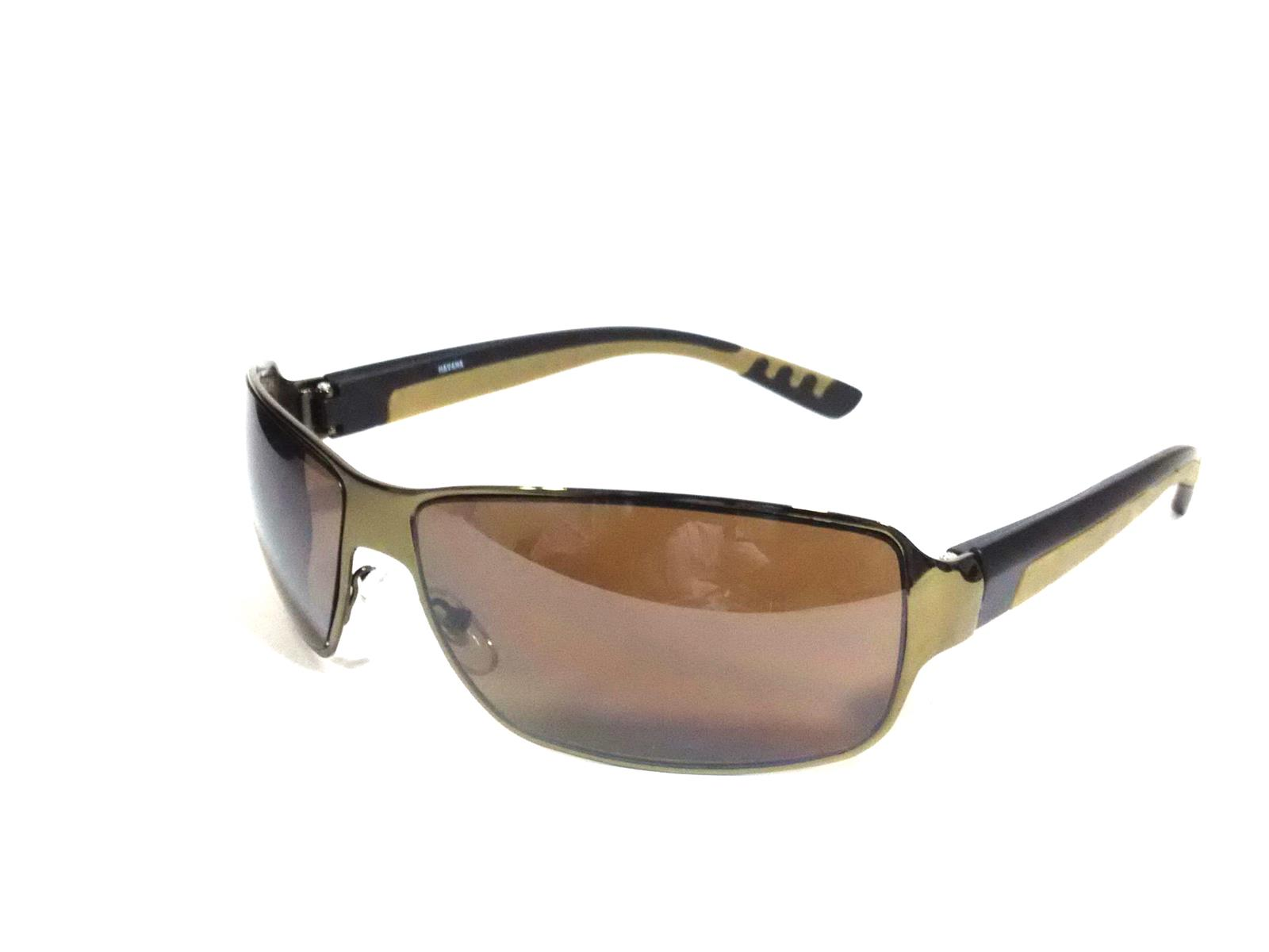 Wraparound Sports Driving Sunglasses with Yellow Side