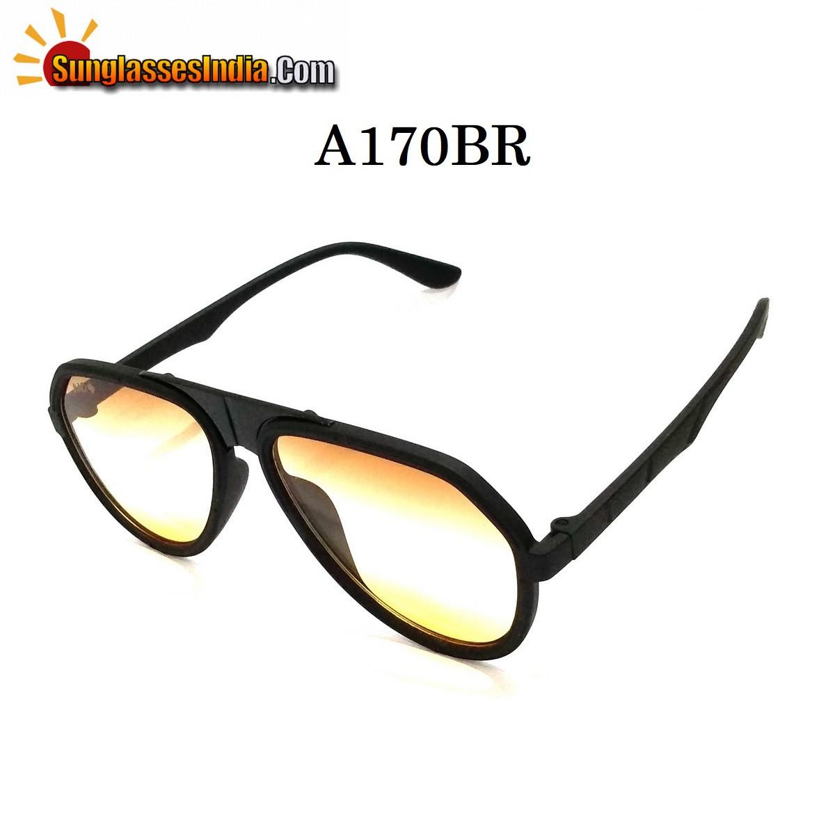 Brown Gradient Aviators Sunglasses AA170BR