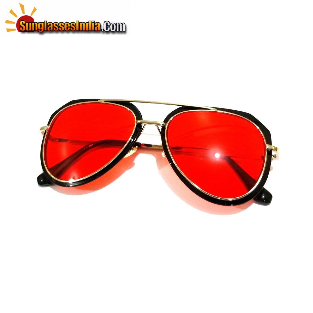 Red Lens Trendy Club Sunglasses Night Driving Sunglasses Tik Tok Video Sunglasses