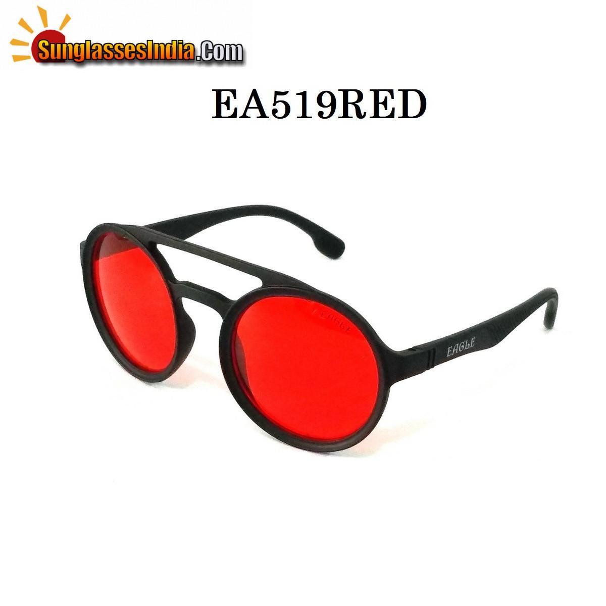 Red Lens Round Sunglasses