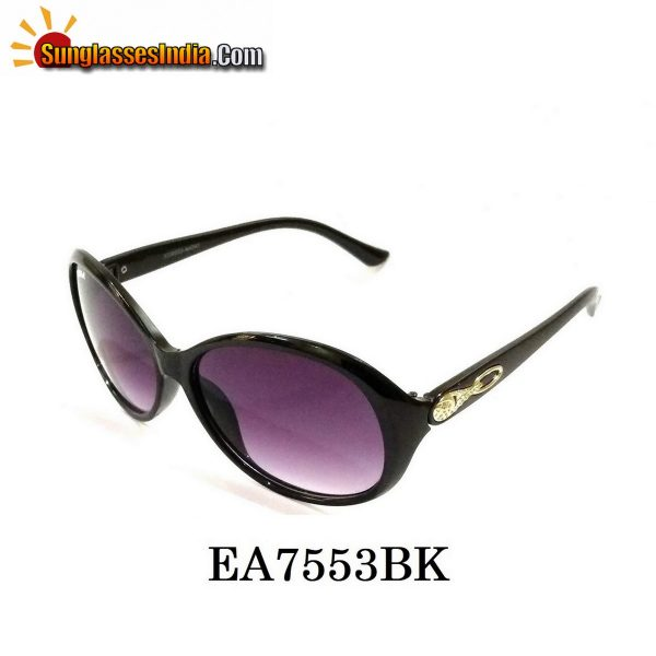 Black Women Sunglasses EA7553BK