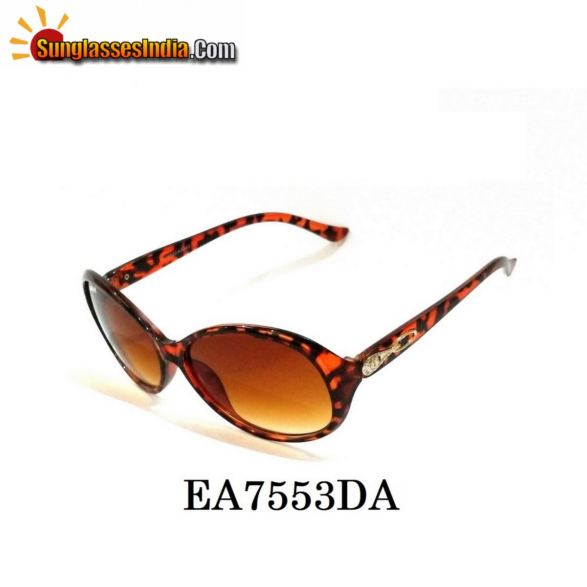 Tortoise Women Sunglasses EA7553DA