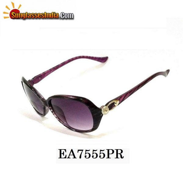 Purple Women Sunglasses EA7555PR
