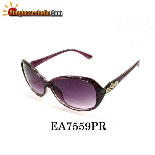 Purple Women Sunglasses EA7559PR