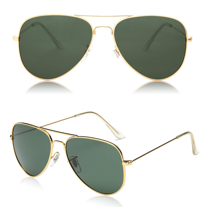 Classic Gold Aviator Polarized Sunglasses