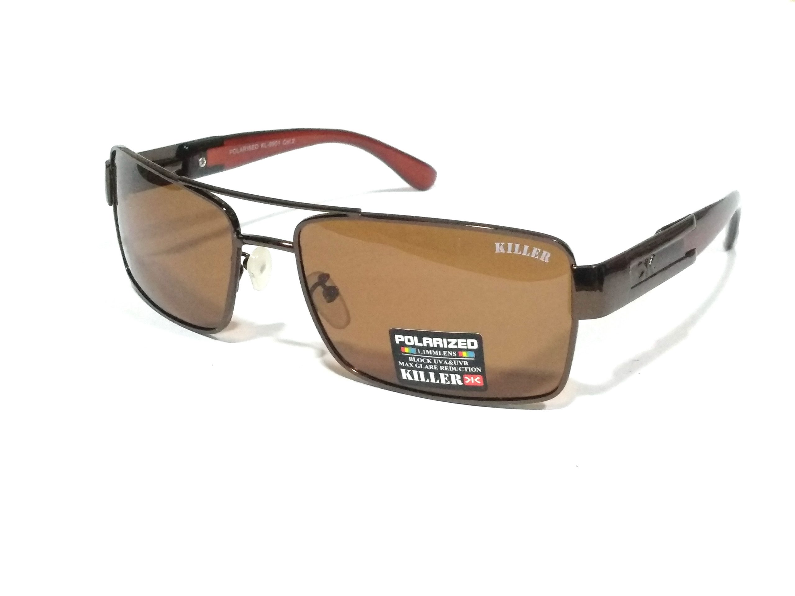 Brown Rectangle Polarized Sunglasses