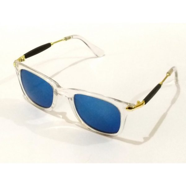 Trendy Blue Mirror Square Sunglasses For Teens