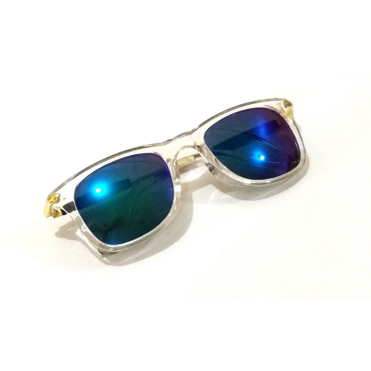 Trendy Green Mirror Square Sunglasses For Teens