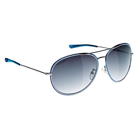 Beach Collection Blue Aviator Sunglasses