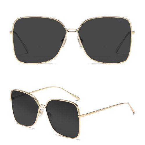 Oversized Square Sunglasses for Women Gold Frame