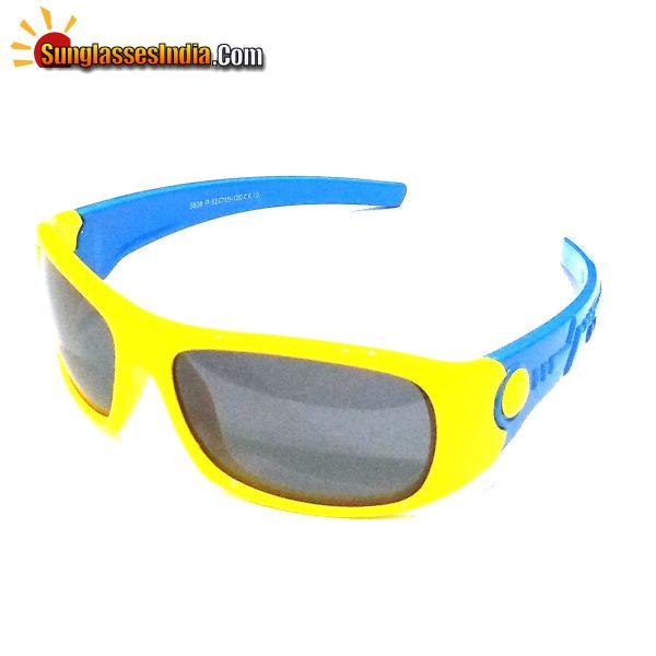 Unbreakable Kids Polarized Sunglasses Light Weight TR Material S808YellowBlue