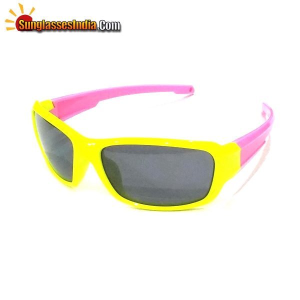 Unbreakable Kids Polarized Sunglasses Light Weight TR Material S8193YellowPink