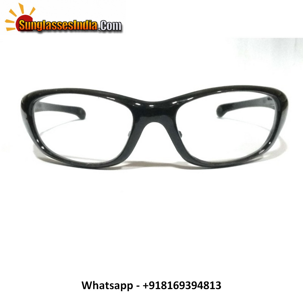 Clear Driving Sunglasses black frame with anti glare coating lenses