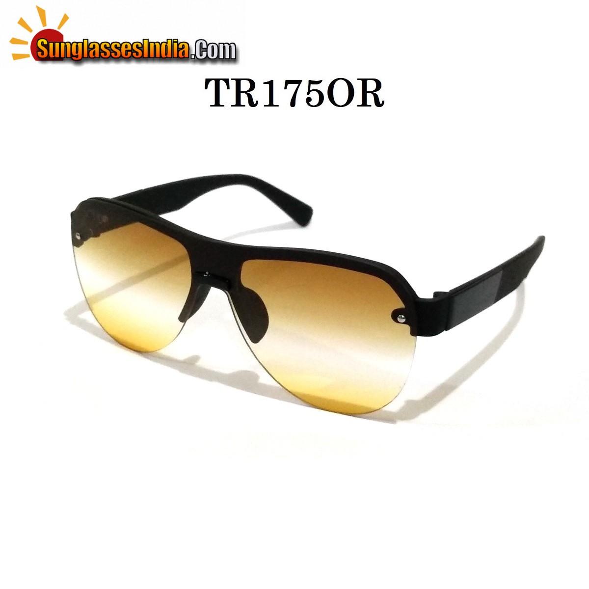 Orange Gradient Aviators Sunglasses