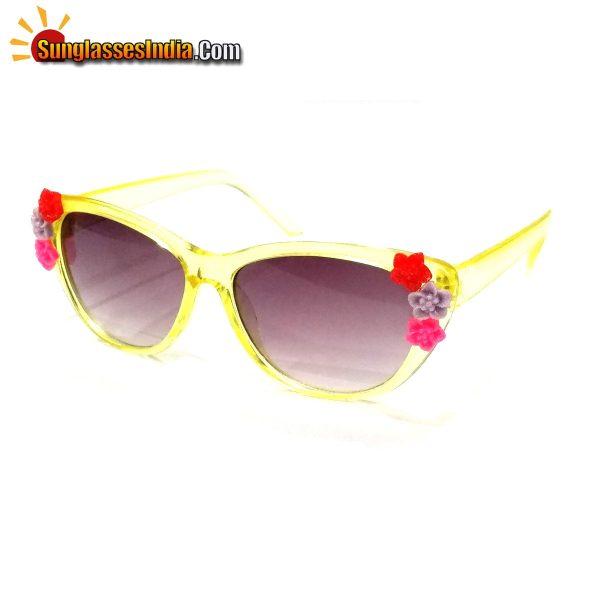 Yellow Kids Fashion Sunglasses TKS004Yellow
