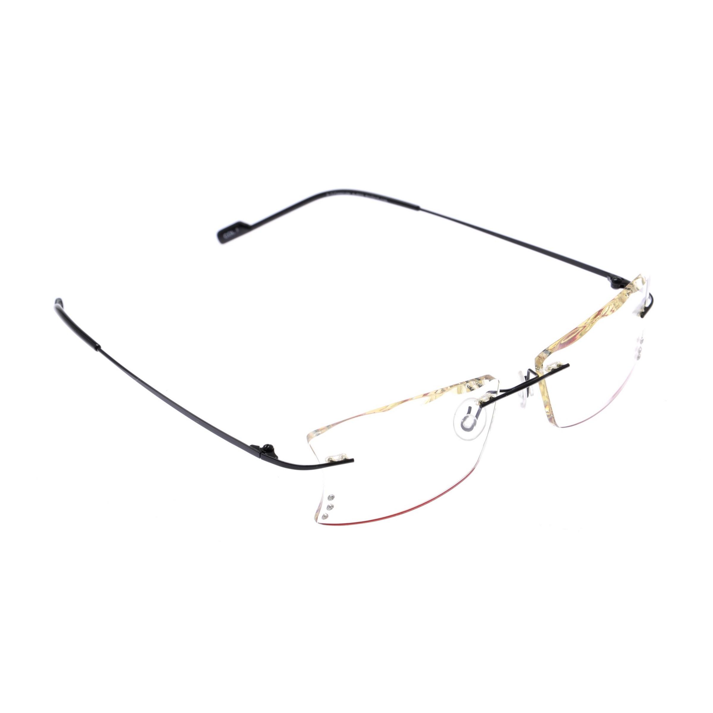Crystal Weightless Black Designer Rimless Computer Glasses A602Bk Curve Shape