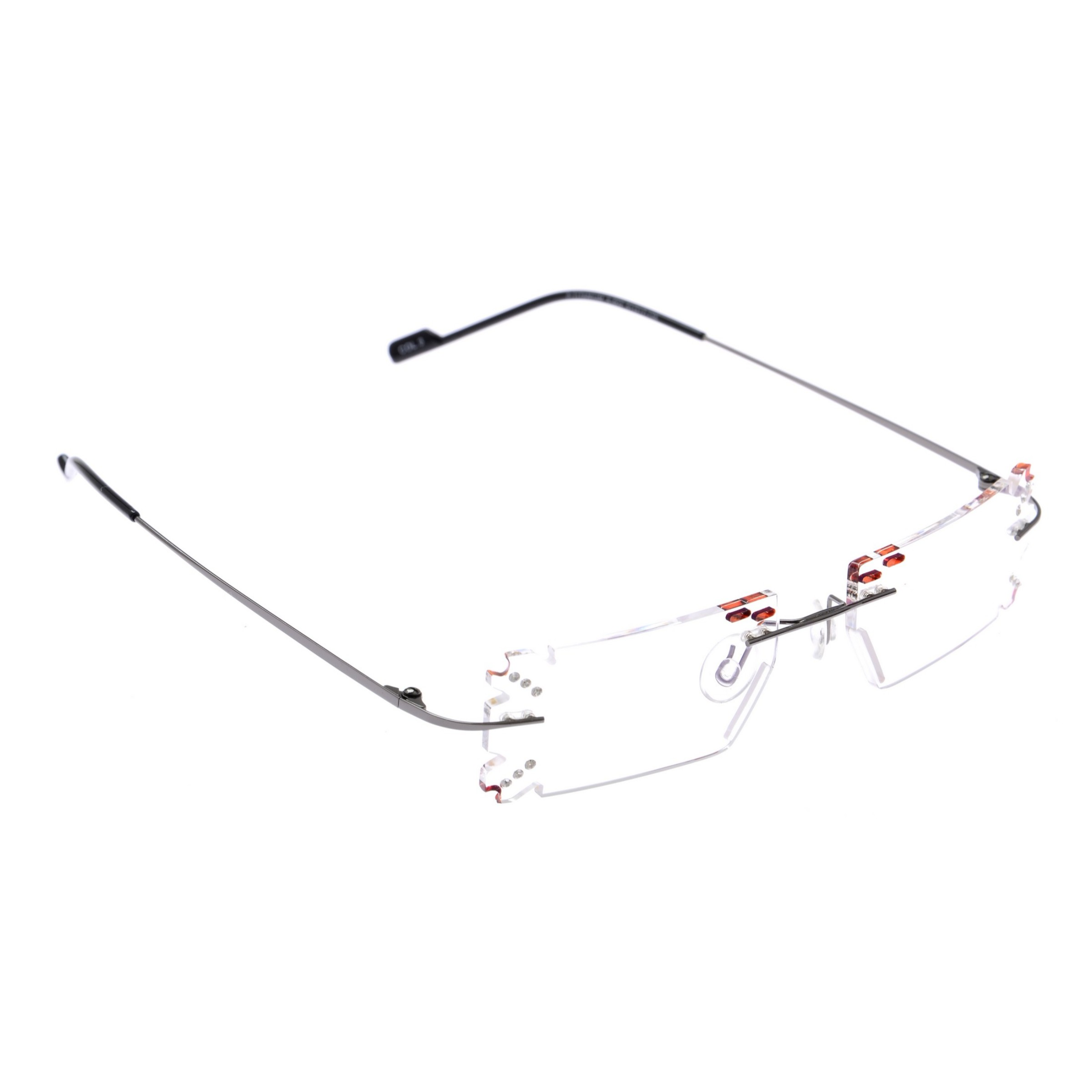 Crystal Weightless Grey Designer Rimless Computer Glasses A602GM