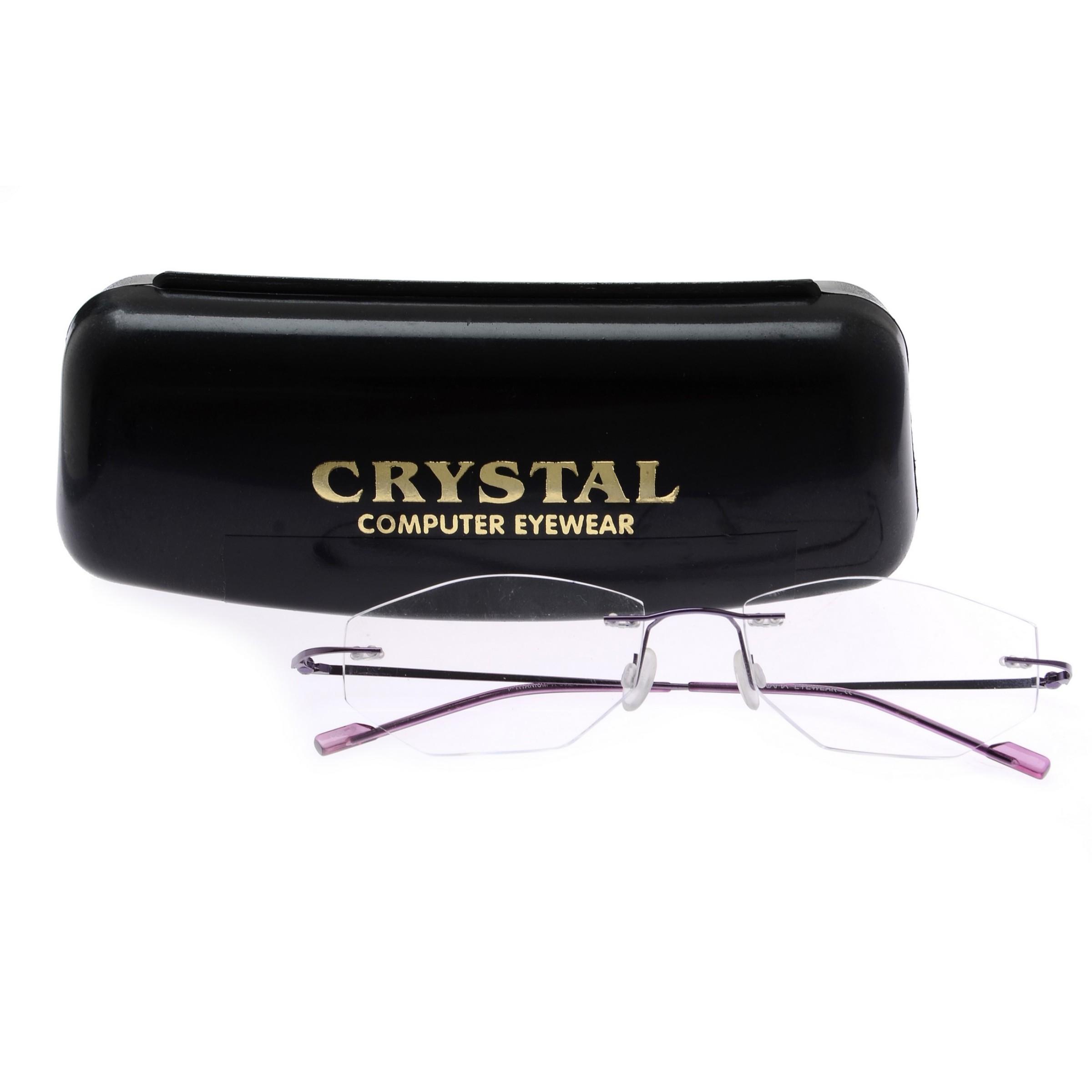 Crystal Weightless Purple Designer Rimless Computer Glasses A602PR