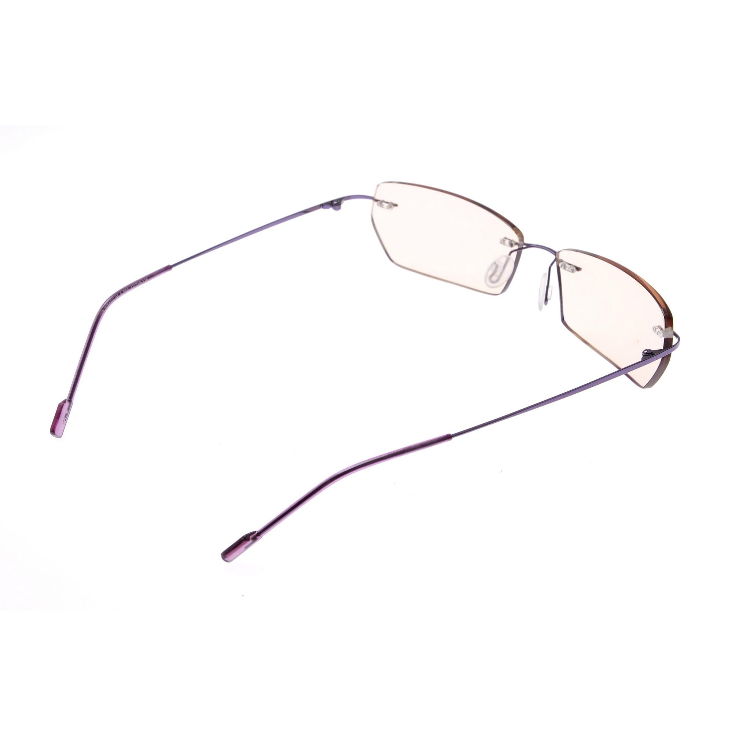 Crystal Weightless Purple Designer Rimless Computer Glasses A604prgl
