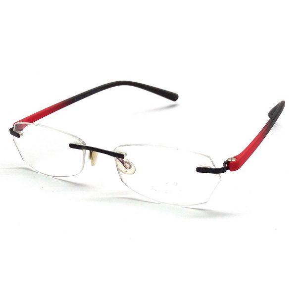 Premium Red Rimless Computer Glasses F003rd