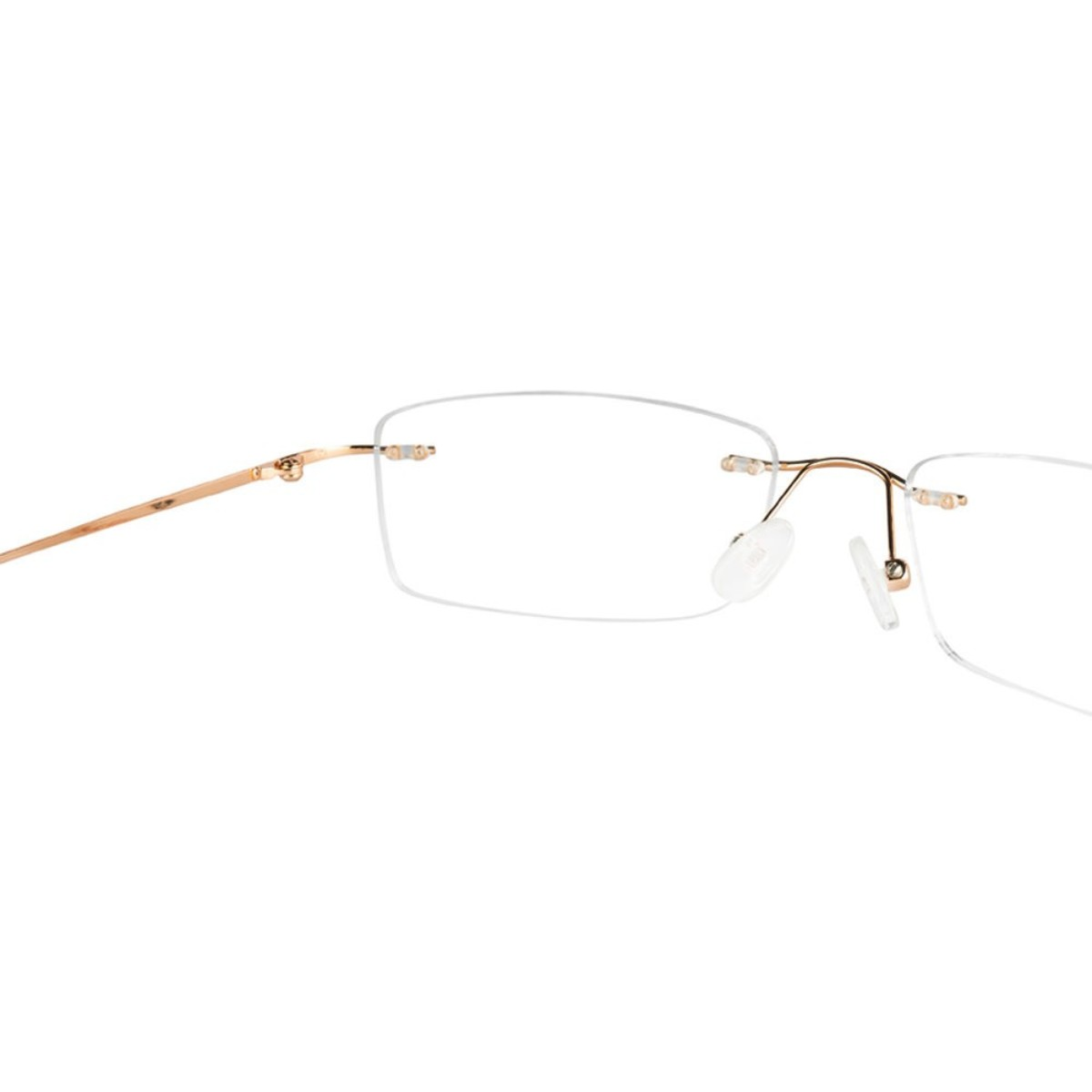 Gold Rimless Computer Glasses with Anti Glare Coating