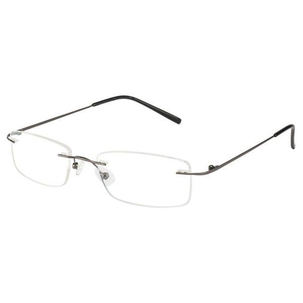 Gunmetal Rimless Computer Glasses with Anti Glare Coating