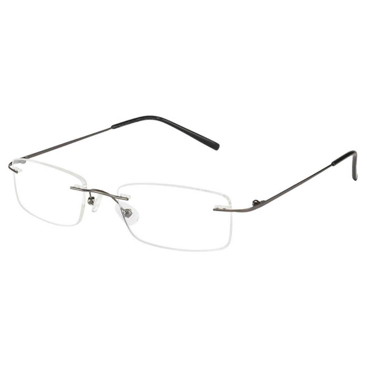 Gunmetal Rimless Computer Glasses with Anti Glare Coating