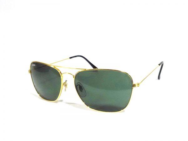 Gold Rectangle Aviator Sunglasses for Men and Women PGl