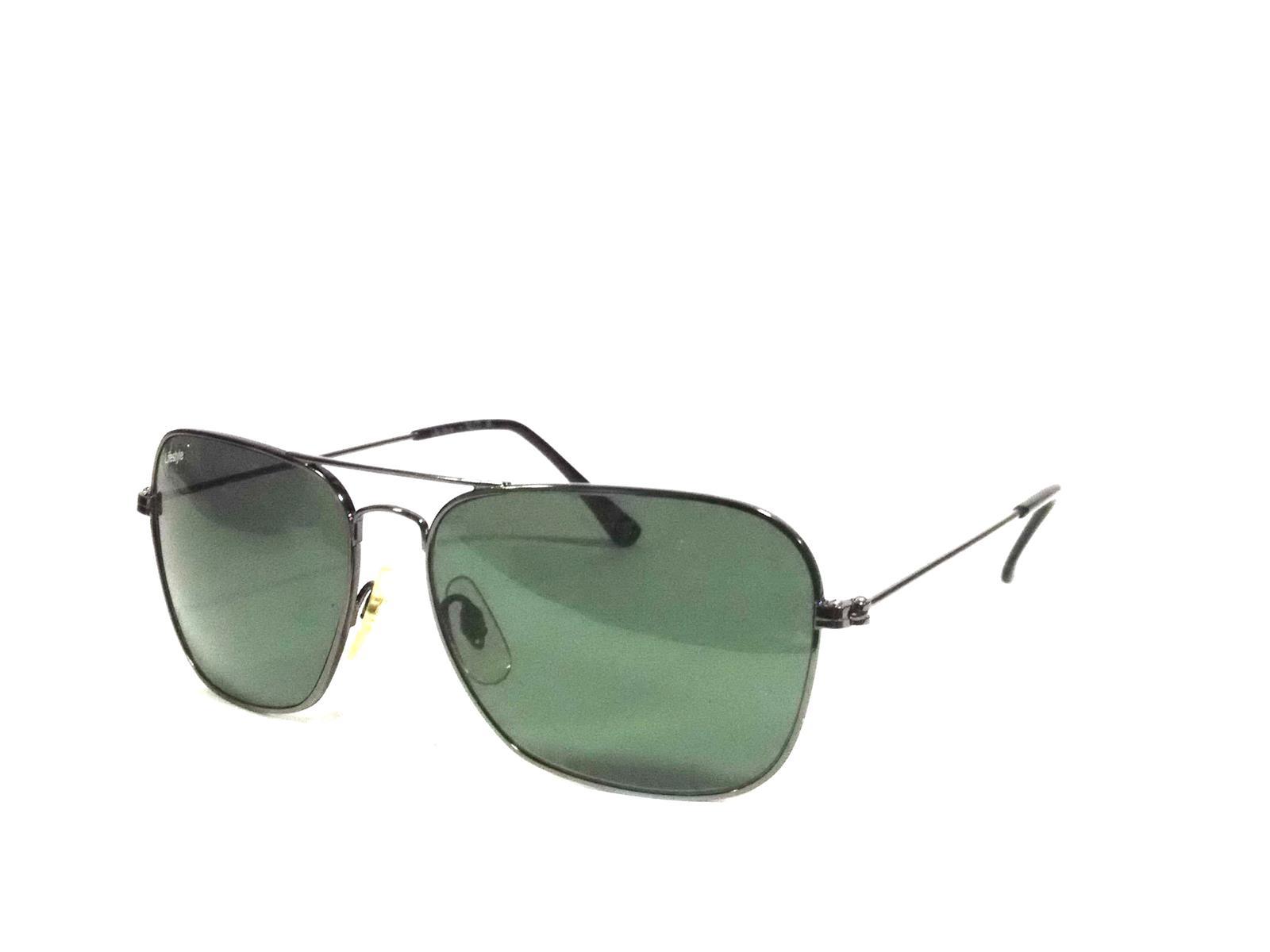 Grey Rectangle Aviator Sunglasses PGR