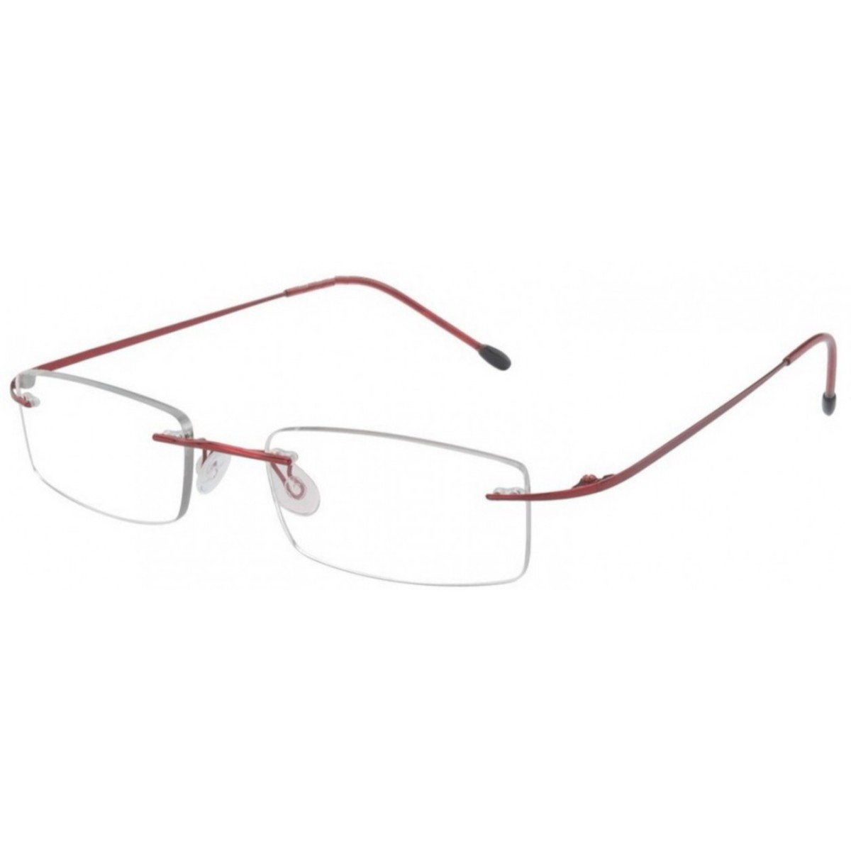 Wine Red Rimless Computer Glasses with Anti Glare Coating