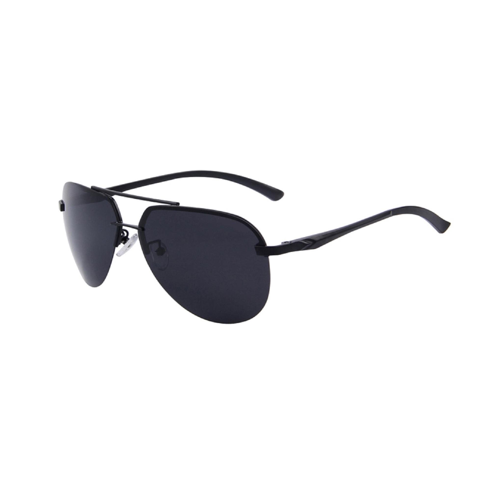 Premium Black Polarized Aviator Sunglasses