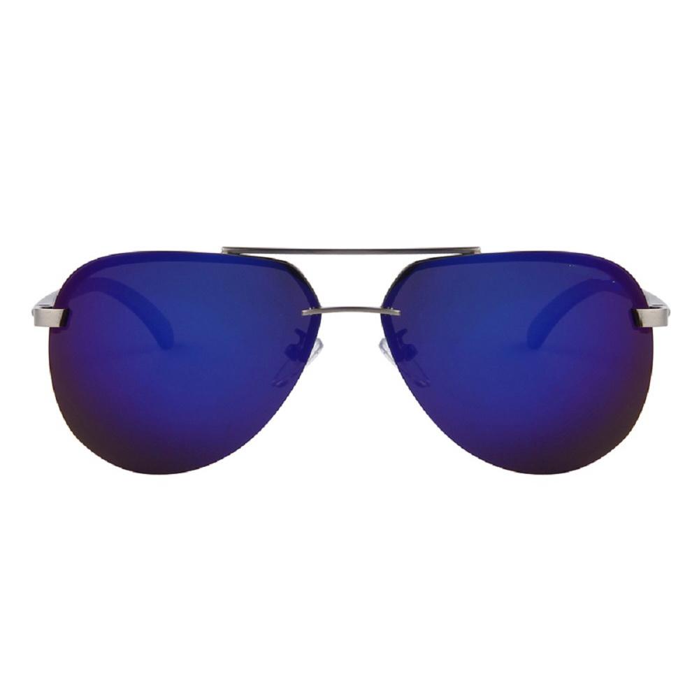 PREMIUM HD VISION BLUE MIRROR POLARIZED AVIATOR SUNGLASSES